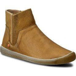 Buty zimowe damskie: Botki SOFTINOS – Imesof P900335003 Camel