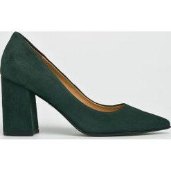 Solo Femme - Czółenka. Szare buty ślubne damskie marki Solo Femme, z materiału, na obcasie. W wyprzedaży za 269,90 zł.