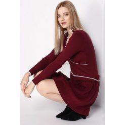 Bordowa Sukienka Basis. Czerwone sukienki hiszpanki Born2be, l, mini. Za 49,99 zł.