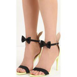Limonkowe Sandały Rabbit. Różowe sandały damskie marki Born2be, w paski, na wysokim obcasie, na szpilce. Za 64,99 zł.