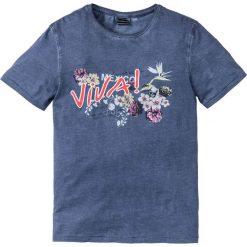 T-shirty męskie z nadrukiem: T-shirt Slim Fit bonprix indygo