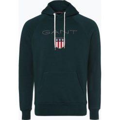 Gant - Męska bluza nierozpinana, zielony. Zielone bluzy męskie rozpinane GANT, m, z haftami, z kapturem. Za 449,95 zł.