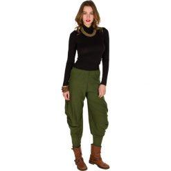 Rurki damskie: Spodnie w kolorze khaki
