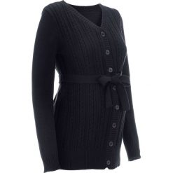 Kardigany damskie: Sweter ciążowy rozpinany bonprix czarny