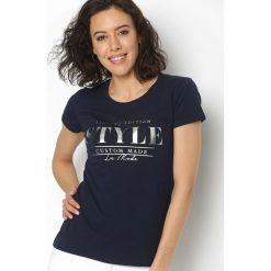 T-shirty damskie: Granatowy T-shirt Unlimited