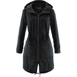 Płaszcze damskie pastelowe: Luźniejszy płaszcz lekko ocieplany bonprix czarny