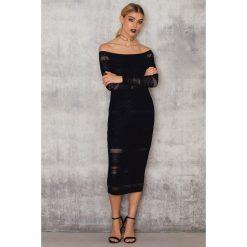 Sukienki hiszpanki: Bardot Sukienka Arkie Panel – Black