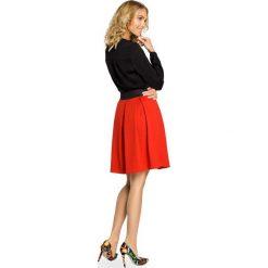 KENDRA Spódniczka rozkloszowana z kontrafałdą - czerwona. Czerwone spódniczki dzianinowe marki Moe, s, retro, rozkloszowane. Za 79,00 zł.