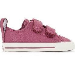 Buty sportowe CTAS 2V CUIR FASHION LEATHER. Fioletowe buty sportowe dziewczęce marki Converse, z bawełny, na płaskiej podeszwie. Za 161,66 zł.