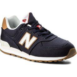 Sneakersy NEW BALANCE - GC574T1 Granatowy. Niebieskie trampki chłopięce New Balance, z materiału, na sznurówki. Za 299,00 zł.