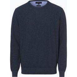 Andrew James - Sweter męski, niebieski. Niebieskie swetry klasyczne męskie Andrew James, l, z bawełny, z okrągłym kołnierzem. Za 129,95 zł.