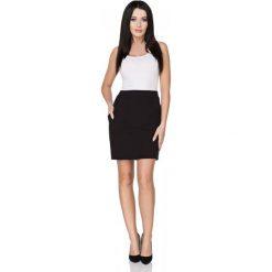 Spódniczki: Czarna Spódnica Dopasowana Mini z Kieszeniami