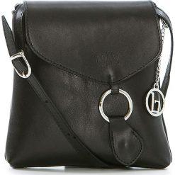 Torebki klasyczne damskie: Skórzana torebka w kolorze czarnym – 21 x 22 x 4 cm