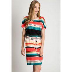 Sukienki: Luźna sukienka z kieszeniami wiązana w talii BIALCON