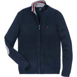 Sweter rozpinany z dzianiny w różne wzory bonprix ciemnoniebieski. Niebieskie kardigany męskie bonprix, l, z dzianiny. Za 109,99 zł.