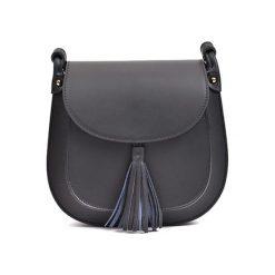 Torebka w kolorze czarnym - (S)24 x (W)22 x (G)6,5 cm. Czarne torebki klasyczne damskie Bestsellers bags, w paski, z materiału. W wyprzedaży za 249,95 zł.