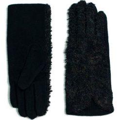 Rękawiczki damskie: Art of Polo Rękawiczki damskie wełniane Szyk i bukle czarne (rk15352)