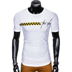 T-SHIRT MĘSKI Z NADRUKIEM S987 - BIAŁY. Szare t-shirty męskie z nadrukiem marki Lacoste, z gumy, na sznurówki, thinsulate. Za 29,00 zł.
