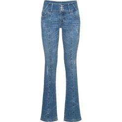 "Dżinsy BOOTCUT bonprix niebieski ""bleached"". Niebieskie jeansy damskie bootcut bonprix. Za 139,99 zł."