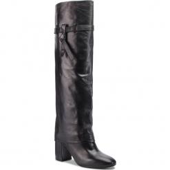 Muszkieterki BRUNO PREMI - Nappa U3505X Nero. Czarne buty zimowe damskie Bruno Premi, z materiału, przed kolano, na wysokim obcasie. Za 899,00 zł.