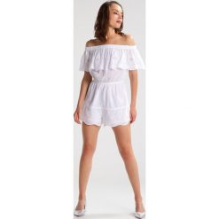 Kombinezony damskie: Topshop Petite BRODERIE BARDOT  Kombinezon white