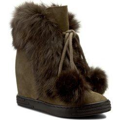 Botki R.POLAŃSKI - 0842 Zielony Oliwka. Zielone buty zimowe damskie marki R.Polański, ze skóry. W wyprzedaży za 329,00 zł.