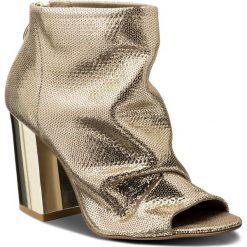 Buty zimowe damskie: Botki ROBERTO - 613 Złoto Oczka