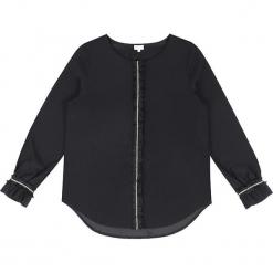 Bluzka jedwabna w kolorze czarnym. Czarne bluzki z odkrytymi ramionami marki Ateliers de la Maille, z jedwabiu, z okrągłym kołnierzem. W wyprzedaży za 318,95 zł.