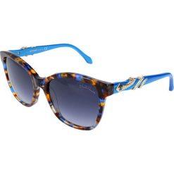 """Okulary przeciwsłoneczne damskie: Okulary przeciwsłoneczne """"RC877S"""" w kolorze brązowo-niebieskim"""