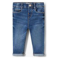 Mango Kids - Jeansy dziecięce Elena 80-104 cm. Niebieskie rurki dziewczęce Mango Kids, z aplikacjami, z bawełny. Za 59,90 zł.