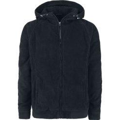 Urban Classics Hooded Corduroy Jacket Kurtka zimowa czarny. Niebieskie kurtki męskie zimowe marki Urban Classics, l, z okrągłym kołnierzem. Za 284,90 zł.
