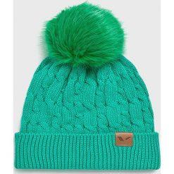 Viking - Czapka. Niebieskie czapki zimowe damskie marki Viking, na zimę, z bawełny. Za 69,90 zł.