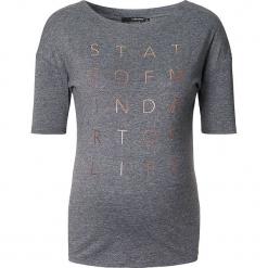 Koszulka ciążowa w kolorze szarym. Szare bralety Noppies Women, xxs, z nadrukiem, z okrągłym kołnierzem, moda ciążowa. W wyprzedaży za 73,95 zł.