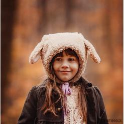 Czapka bonetka Owca. Brązowe czapki damskie Pakamera, z bawełny. Za 98,00 zł.