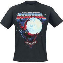 Deadpool Chimichangas In Space T-Shirt czarny. Czarne t-shirty męskie z nadrukiem Deadpool, l, z okrągłym kołnierzem. Za 54,90 zł.