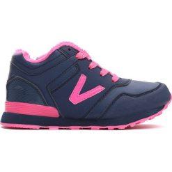 Granatowe Buty Sportowe Peppy. Niebieskie buty sportowe dziewczęce Born2be, z materiału, z okrągłym noskiem, na zamek. Za 49,99 zł.