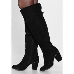 Vero Moda VMKIMMIE OVERKNEE BOOT Kozaki black. Czarne buty zimowe damskie Vero Moda, z materiału. W wyprzedaży za 237,30 zł.