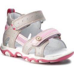Sandały dziewczęce: Sandały BARTEK – 31824-0SZ Szaro Różowy