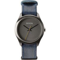 Zegarki damskie: Zegarek damski Gunmetal Navy Nixon Mod Leather A4281893