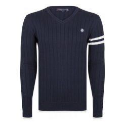 Giorgio Di Mare Sweter Męski M Ciemny Niebieski. Niebieskie swetry klasyczne męskie marki Oakley, na lato, z bawełny, eleganckie. W wyprzedaży za 169,00 zł.