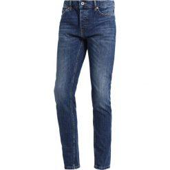 Topman FRANKIE MARBLE Jeans Skinny Fit blue. Niebieskie rurki męskie Topman. Za 229,00 zł.