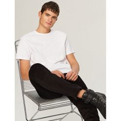 T-shirty męskie: Melanżowy t-shirt – Biały