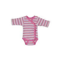 Fixoni  Girls Body dziecięce soft pink - różowy/pink. Czerwone body niemowlęce marki Fixoni, z bawełny, z długim rękawem. Za 49,00 zł.