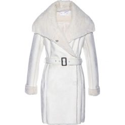 Płaszcze damskie: Płaszcz ze sztucznej skóry bonprix biel wełny