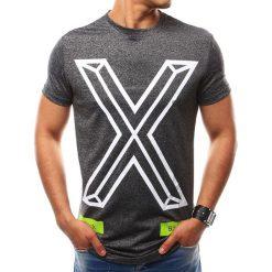 T-shirty męskie z nadrukiem: T-shirt męski z nadrukiem grafitowy (rx2560)