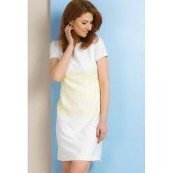 Sukienki: Sukienka z żakardowym zdobieniem