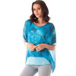 Bluzki asymetryczne: Koszulka w kolorze turkusowym