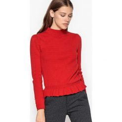 Kardigany damskie: Sweter z falbanami
