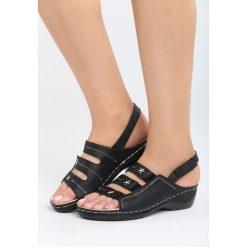 Sandały damskie: Czarne Sandały Nightcall