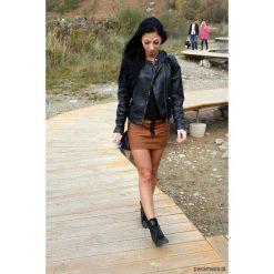 GIRL BUTTON SKIRT spódniczka brązowa. Brązowe spódniczki dziewczęce z falbankami Pakamera, z bawełny. Za 199,00 zł.